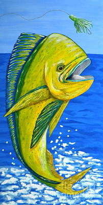 Mahi Mahi Art Print by JoAnn Wheeler