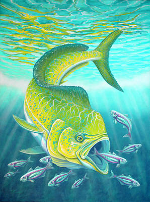 Painting - Mahi Mahi by Tish Wynne