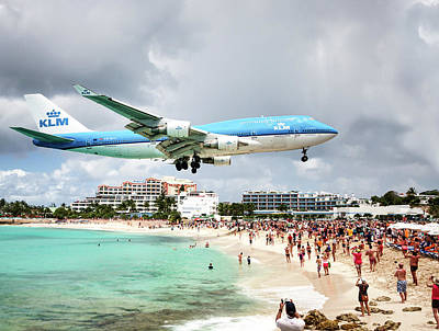 Photograph - Maho Beach Caribbean Island Of St Maarten by Nick Mares
