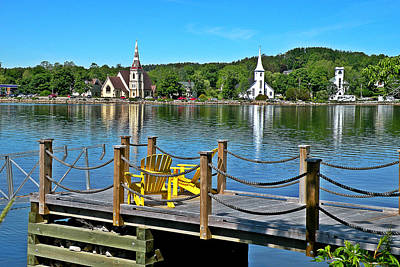 Photograph - Mahone Bay Nova Scotia by Brian Chase
