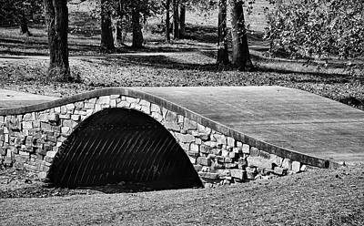 Photograph - Mahr Park Arched Footbridge - Bw by Greg Jackson