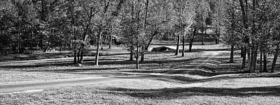 Photograph - Mahr Park Lower Trail And Footbridge - Kentucky - Bw by Greg Jackson
