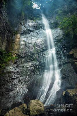 Mahuntseti Waterfall Art Print by Svetlana Sewell