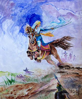 Mai Bhago Art Print by Sarabjit Singh