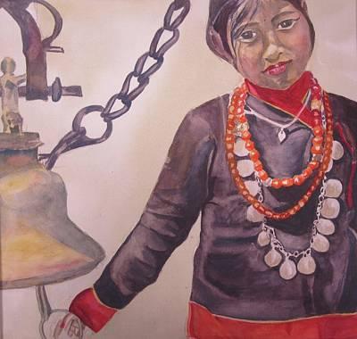 Nepali Painting - Maichha by Anita  Maharjan