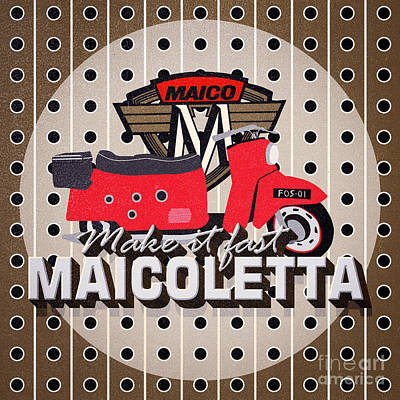 Photograph - Maicoletta Scooter Advertising by Jorgo Photography - Wall Art Gallery
