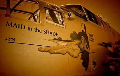 Maid In The Shade - Sepia Art Print