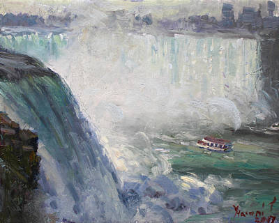 Mist Wall Art - Painting - Maid Of The Mist by Ylli Haruni