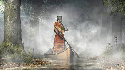 Canoe Digital Art - Maid Of The Mists by Daniel Eskridge