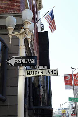 Photograph - Maiden Lane San Francisco 7d7282 by San Francisco Art and Photography