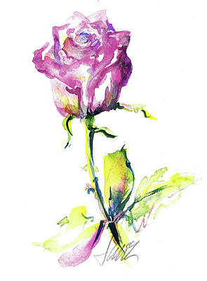 Painting - Maiden Rose by Jacki Kellum
