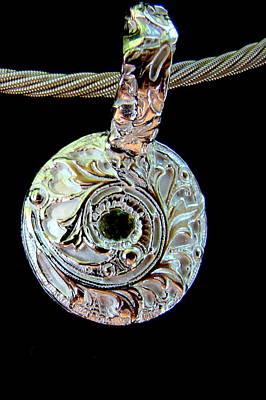 Jewelry - Maidenhair Fern Pendant by Kimberly Clark - Dragonfly Studios