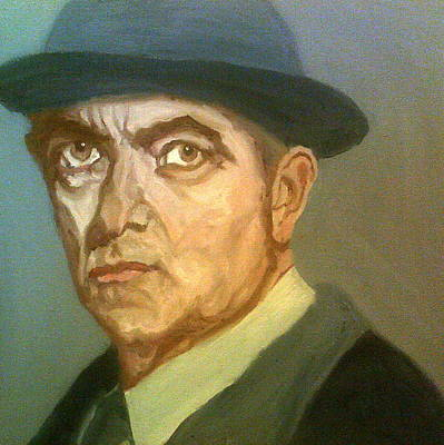 Painting - Maigret Looks Serious by Peter Gartner
