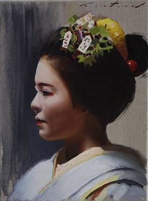 Maiko Katsuhina - Geisha Art Print