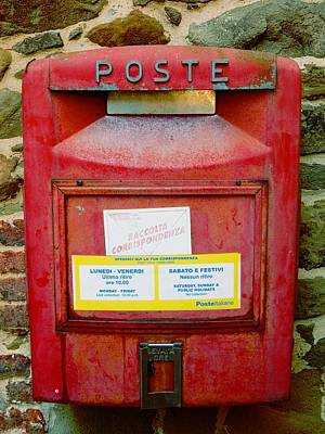 Photograph - Mail Box Paciano Umbria by Dorothy Berry-Lound