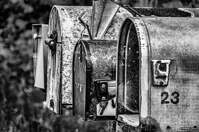Rural Decay Digital Art - Mail Boxes In Baddeck by Ken Morris