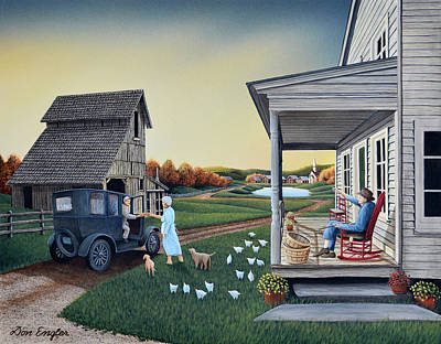 Painting - Mail Call by Don Engler