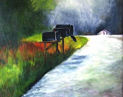 Mail Call Art Print by Julie Lamons