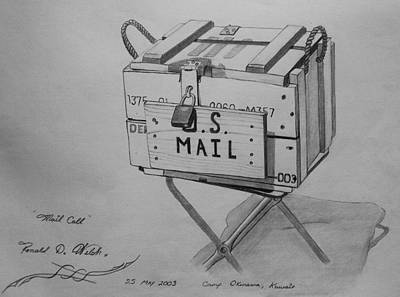 Mail Box Drawing - Mail Call by Ronald Welch