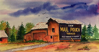 Mail Pouch Barn Painting - Mail Pouch Barn by Chuck Creasy