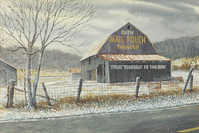 Mail Pouch Barn Painting - Mail Pouch Barn by Frank Lott