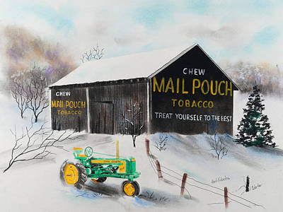 Pastel - Mail Pouch Barn West Virginia 2 by Paul Cubeta