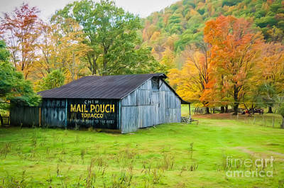 Photograph - Mail Pouch Barn Wv-digital Art by Kathleen K Parker