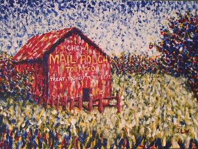Mail Pouch Barn Painting - Mail Pouch by Justin Lee Williams