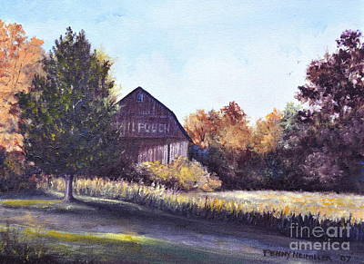 Mail Pouch Barn Painting - Mail Pouch Barn by Penny Neimiller