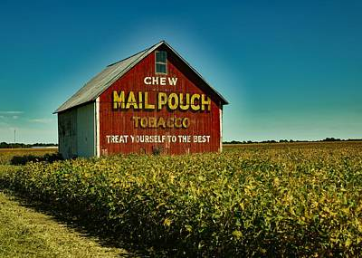 Indiana Landscapes Photograph - Mail Pouch Tobacco Barn by Mountain Dreams