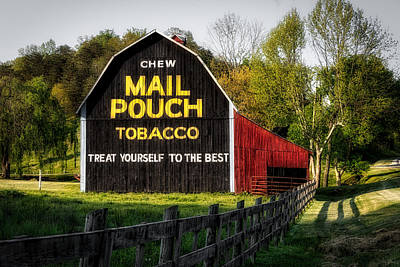 Mail Pouch Photograph - Mail Pouch Tobacco - West Virginia by Mountain Dreams