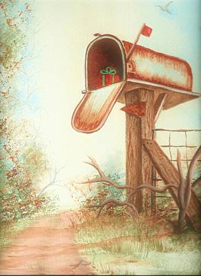 Painting - Mailbox  by Denise F Fulmer