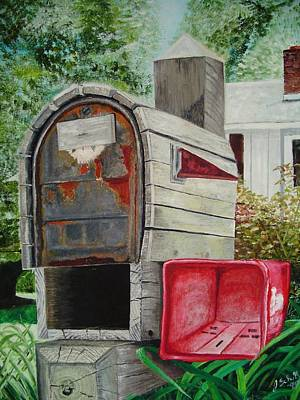 Painting - Mailbox by John Schuller