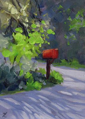 Painting - Mailbox by Karen Ilari