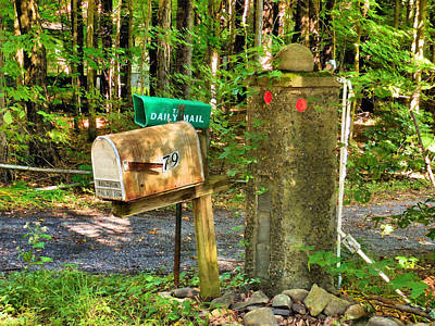 Rural Decay Painting - Mailbox On The Rural Country Road by Lanjee Chee