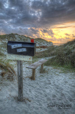 Kindred Spirits Photograph - Mailbox Sunrise by Jackie Frick Smith