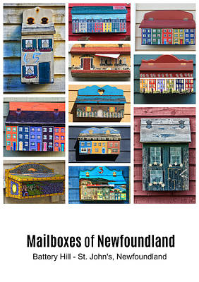 Photograph - Mailboxes Of Newfoundland Poster by Tatiana Travelways
