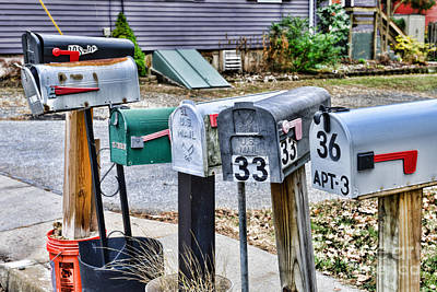 Us Mail Photograph - Mailboxes by Paul Ward