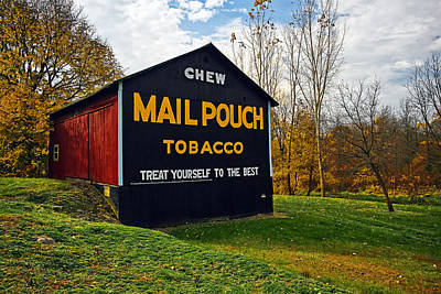 Barn Photograph - Mail Pouch Barn by Marcia Colelli