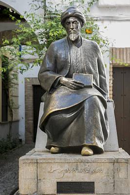 Jewish Heritage Photograph - Maimonides Monument - Jewish Quarter - Cordoba Spain by Jon Berghoff