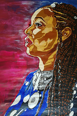 Painting - Maimouna Youssef by Rachel Natalie Rawlins