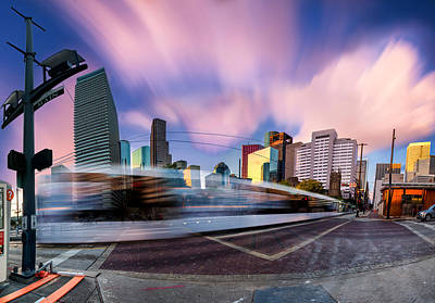 Photograph - Main And Bell St Downtown Houston Texas by Micah Goff