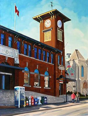 Painting - Main And Park - Newmarket by Phil Chadwick