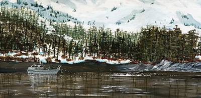 Salmon Painting - Main Bay - Framed by Will Tiedeman