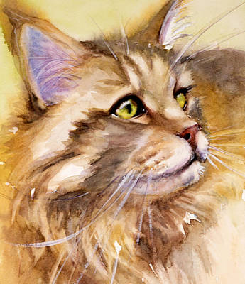 Painting - Main Coon by Judith Levins