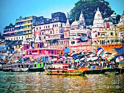 Photograph - Main Ghat by Derek Selander