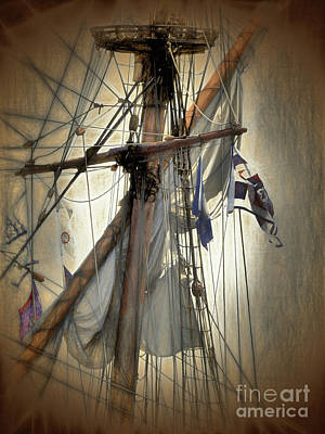 Photograph - Main Mast - Kalmar Nyckel by Scott Cameron