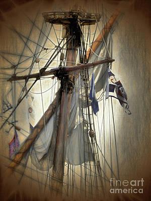 Photograph - Main Mast - Kalmar Nyckel by Scott Cameron