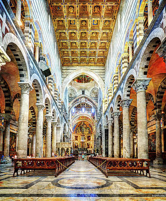 Photograph - Main Nave Of The Cathedral Of Pisa by Weston Westmoreland