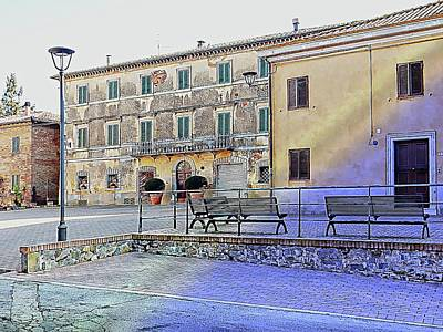 Photograph - Main Piazza In Vaiano Umbria by Dorothy Berry-Lound